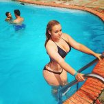 amateur photo Pool girl