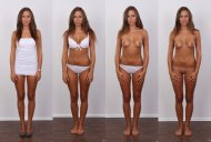 amateur photo Four states of dress to undress