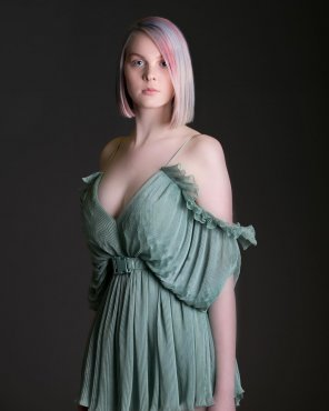 amateur photo Colored hair in a Romper dress