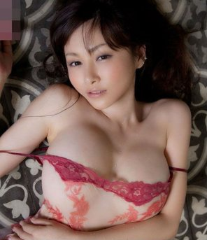 amateur photo Anri Sugihara Loosens Her Lingerie