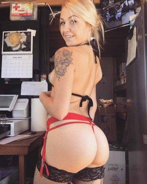 amateur photo Bikini barista