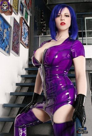 amateur photo Larkin Love in latex