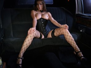 amateur photo Fishnets and corset