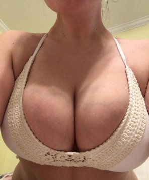 amateur photo Bikini top from high school is way too small..what do you guys think I should do with it?