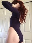 amateur photo Purple Leotard and Red Hair C;