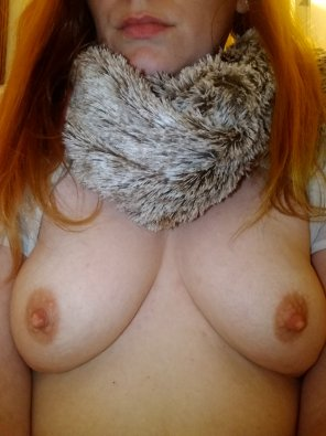 amateur photo My chilly nipples need a warm mouth.. [f]