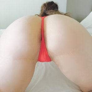 amateur photo PictureBright red thong
