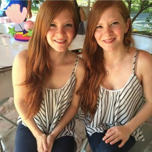 amateur photo Twin gingers