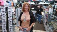 Beautiful Redhead at a novelty store