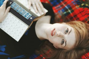 amateur photo Redheaded reader
