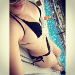amateur photo Nice black bikini