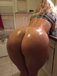 amateur photo Awesome big ass in the kitchen