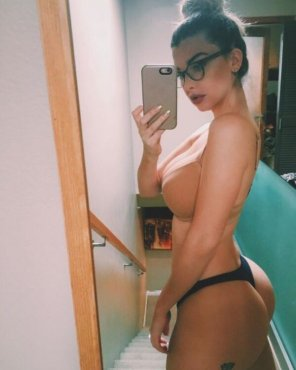 amateur photo Naughty Ass Glasses Selfie