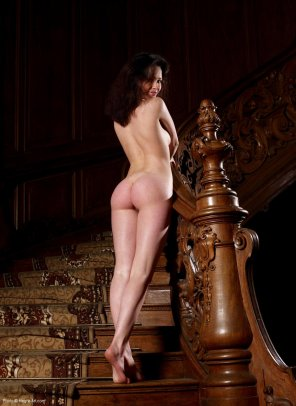 amateur photo nice hardwood stairs