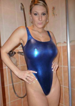 amateur photo Quite tight bathing suit