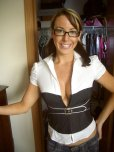 amateur photo Sexy cougar with glasses
