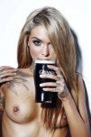 amateur photo Beer and breast