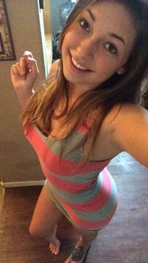 amateur photo striped mini