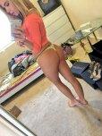 amateur photo Alina West thong selfie