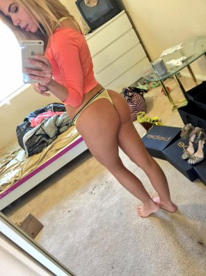 amateur photo Alina West thong selfie