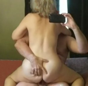 amateur photo My 55yo MILF wife riding me