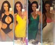 Abigail Ratchford in each outfit