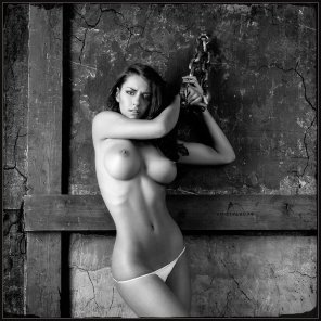 amateur photo Chained up