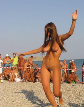 amateur photo Dancing at a beach festival.