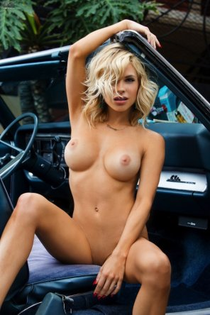 amateur photo Beauty in a classic car