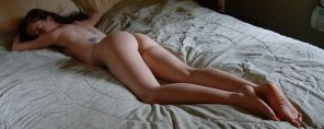 amateur photo Just Lounging Around In Her Birthday Suit