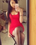 amateur photo Asian in a tight red dress