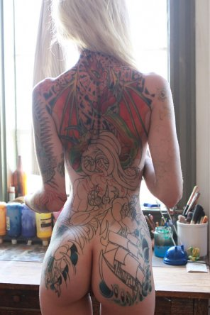 amateur photo Ass & Tats