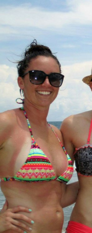 amateur photo Beach Breasts