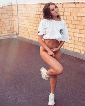amateur photo Forgot her pants