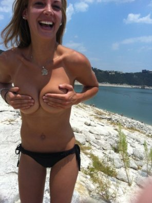 amateur photo Cute Handbra At The Beach