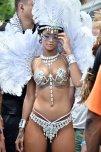 amateur photo Rihanna at Kadooment Day celebration in Bermuda