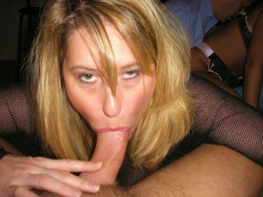amateur photo MILF loves to suck any cock around