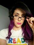 amateur photo Purple hair and good advice