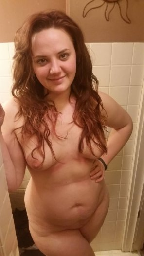 amateur photo Older photo. Before a shower.