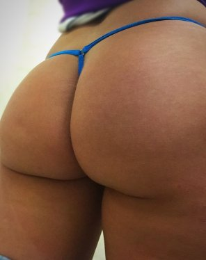 amateur photo [F] Thong of The Day, blue micro thong G string, enjoy!!!