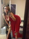 amateur photo Milf in red