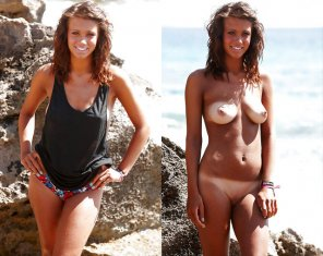amateur photo Tan brunette