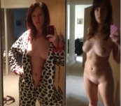 Cow Onesie Selfie On/Off