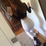 amateur photo white bottom jeans