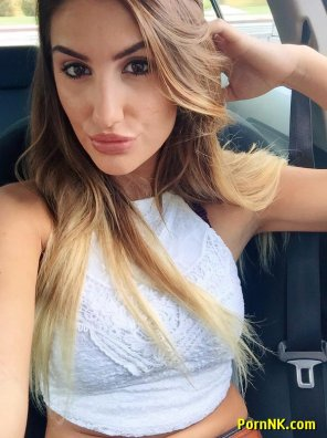 amateur photo August Ames car selfie