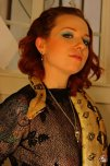 amateur photo redhead with snake