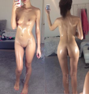 amateur photo All oiled up... Are you down for a nuru massage? 😛