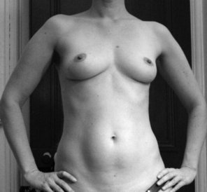 amateur photo Another B&W, but no shirt and that's not panties I was wearing :)