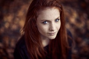 amateur photo Red Hair Blue Eyes