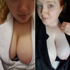 amateur photo Do you pre[f]er me in whites or blacks?
